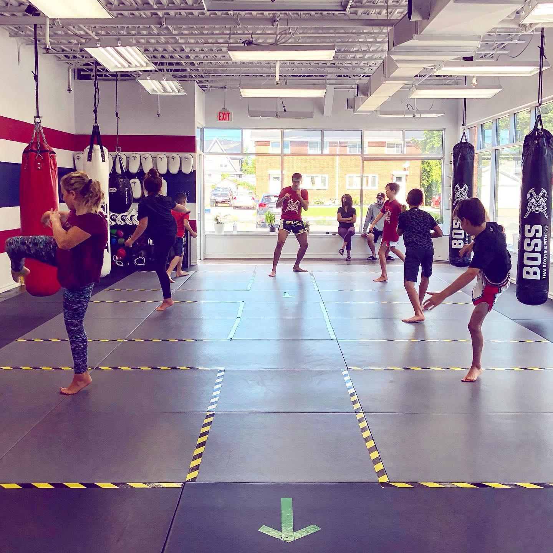 Ages 9 to 12 Senior Nak Muays class with Kru Yuki Yamanaka martial arts kids class