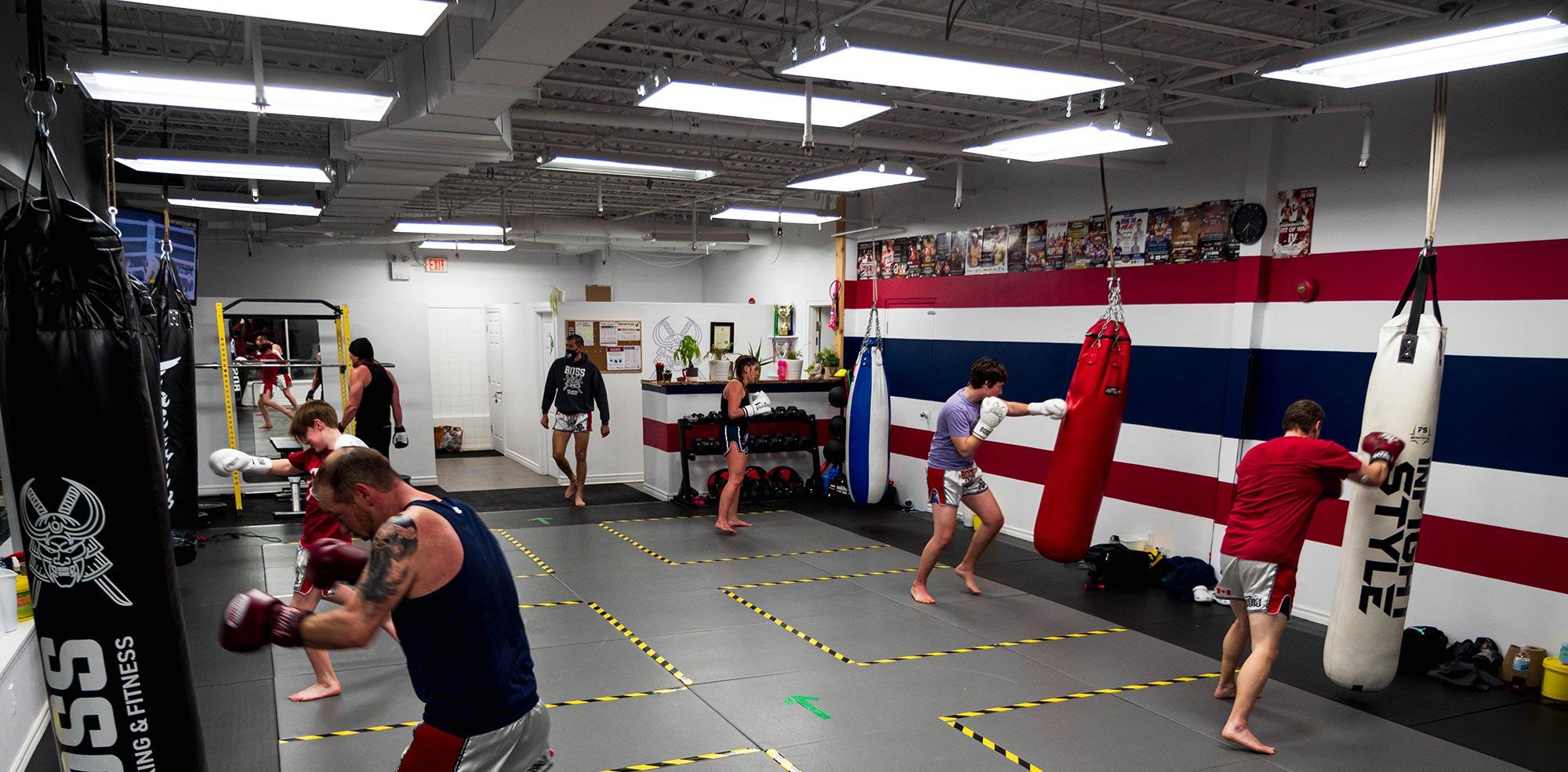 Muay Thai class in action with Kru Yuki individual bag training
